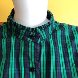 Vineyard vines green and blue plaid shirt